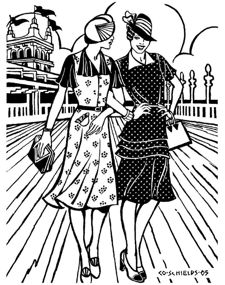 folkwear 9 Mourning Time 1930 s day dress